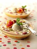 Strawberry-rhubarb sabayon