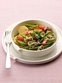 Salade Liegeoise (Lütticher Salat mit Speck, grünen Bohnen, Kartoffeln und Zwiebeln)