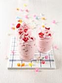 Frozen raspberry yoghurts