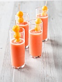 Strawberry and melon natural antioxidant juice