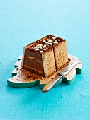 Rich tea biscuit and Nutella Mille-feuille with Toblerone frosting