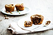Chocolate muffins with a runny center