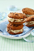 Cookie and ice cream sandwiches