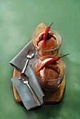Red pepper and balsamic vinaigar ice cream
