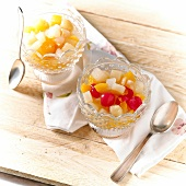 Small bowls of fruit salad