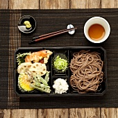 Tempuras and soba noodle bento