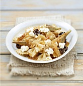 Farfalles with Poivrade artichokes and crumbled Fromage frais