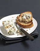 Creamy ricotta,fig and herb terrine