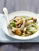 Mussel and fennel salad