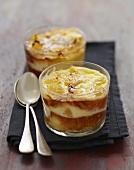 Individual citrus fruit bioche puddings