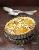 Individual amandine,nougat and apricot pie