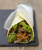 Beef and pepper wrap