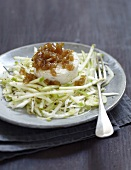 Crisp celery,fennel,Granny Smith apple and Pélardon with onion chutney