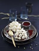 Vacherin-style Christmas snowball dessert
