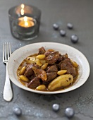 Spicy lamb and almond Tajine