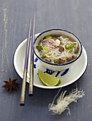 Phô-bô, beef and rice noodle soup from Vietnam