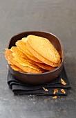 Caramelized orange tuiles