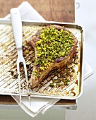 Veal chop roasted with gremolata