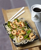 Shrimp and sugar pea Chop-suey