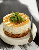 Small salmon cheesecake
