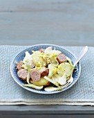 Potato and chipolata salad