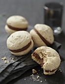 Chocolate and pecan Speculos gingerbread biscuit macaroons