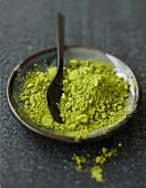 Bowl of green tea