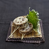 Lotus root fried Yakitoris