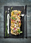 Fish tartare with mango and coconut