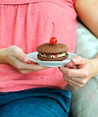Black Forest-style macaroon