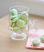 Green apple-Roquefort savoury macaroons