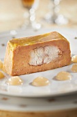 Foie gras and smoked eel terrine with pear puree