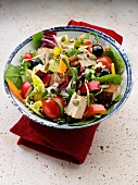 Vegetable,smoked tofu and sprout salad
