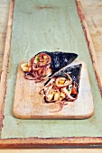 Octopus and vegetable Temakis
