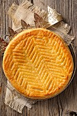 Galette des rois and paper crown