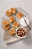 Square hazelnut crunchies