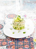 Dublin Bay prawn, green apple and avocado tartare