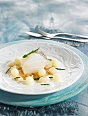 Salt-cod with pine nut cream