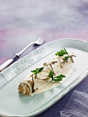 Mushroom and poulard hen cannelloni