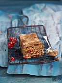 Milk chocolate and redcurrant brownie