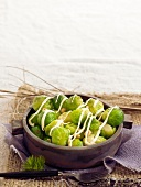 Brussels sprout and hazelnut salad