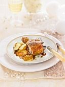 Milk-fed lamb with potatoes and Reinette apples