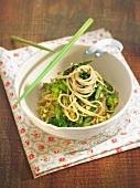 Green spaghettis