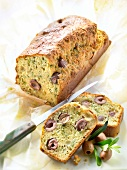 Olive, parmesan and herb savoury cake