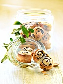 Small black olive Palmiers