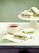 Cucumber and cream cheese sandwiches
