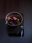 Chorizo marinated in red wine