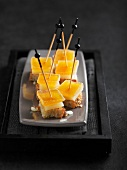 Manchego and quince paste granary bread appetizers