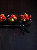 Strawberry and tomato salad with balsamic dressing