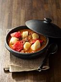 Axoa de veau (Kalbsragout mit Kartoffeln und Paprika, Baskenland)